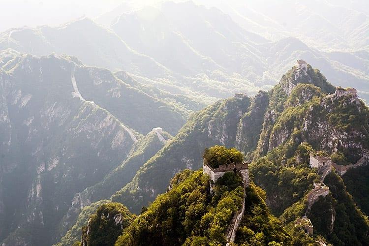 De Chinese Muur bij Jiankou