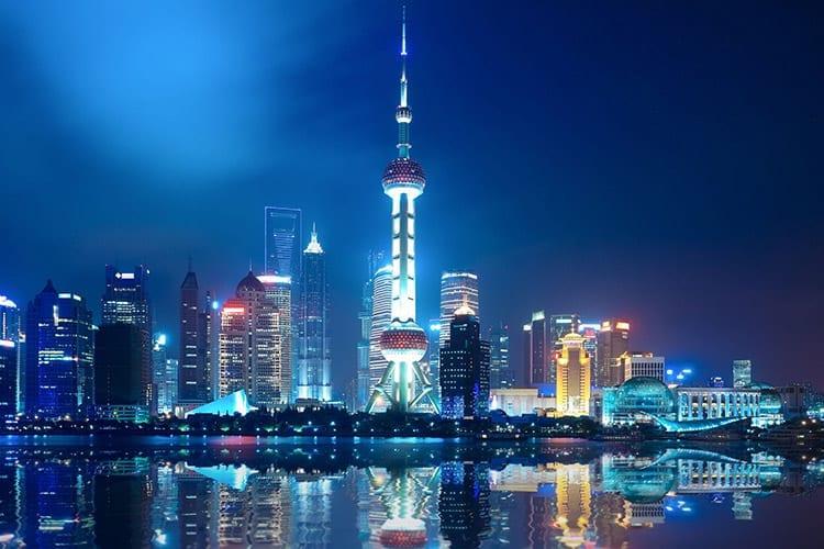 Shanghai vanaf de Bund