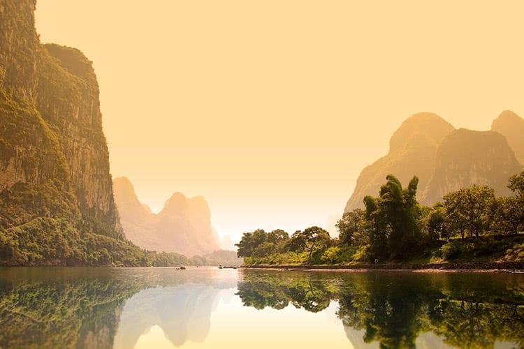 De Li-rivier in Yangshuo