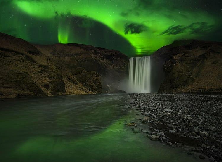 Skogafoss waterval, IJsland
