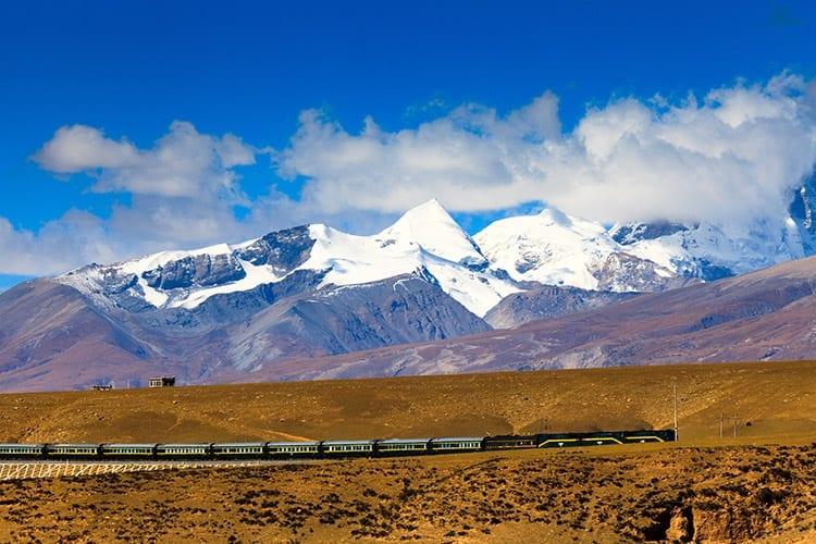 Trein in Tibet