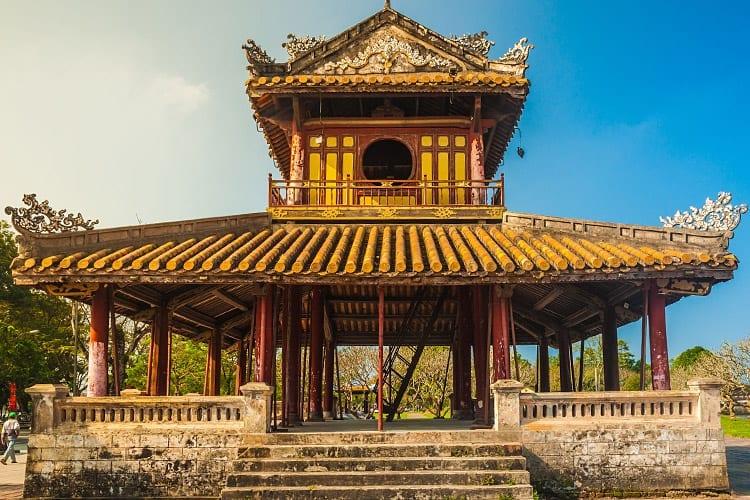 Een van de tempels in de keizerlijke citadel