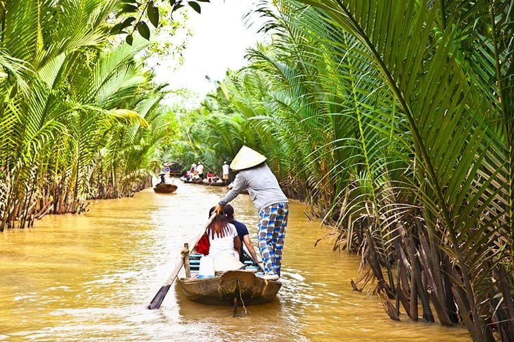 Boottocht door de Mekong Delta