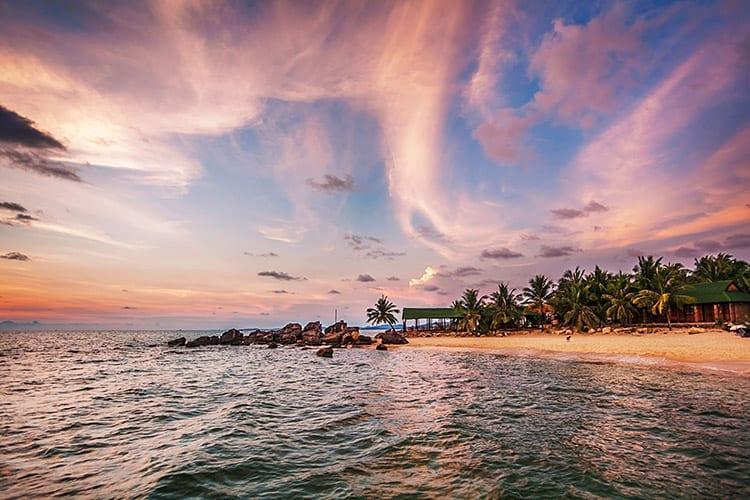 Phu Quoc bij zonsondergang