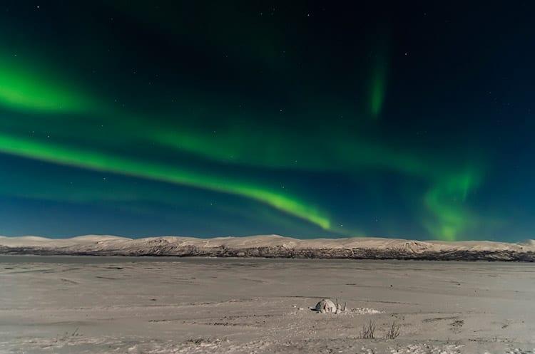 Het Noorderlicht boven Abisko in Zweden