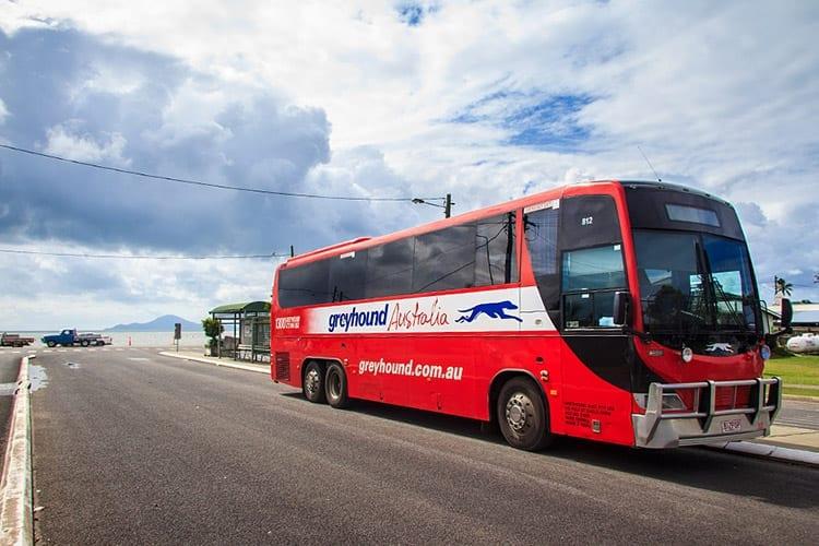 Greyhound bus in Australië