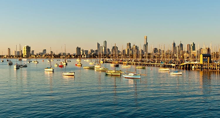 Port Phillip Bay bij St. Kilda