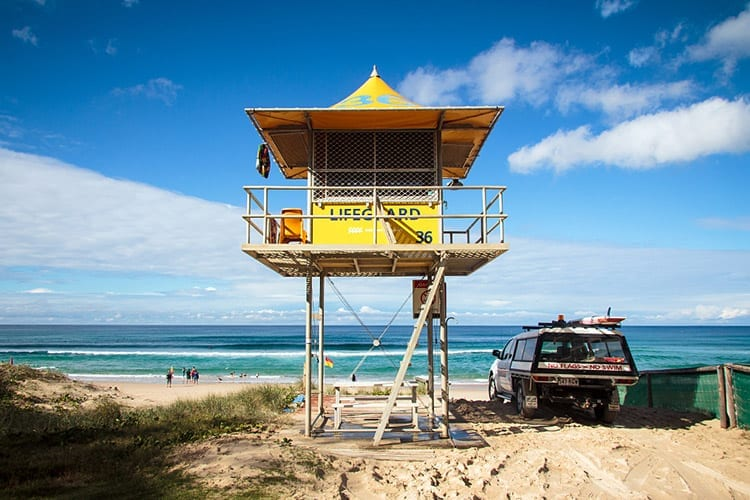 Strandwacht in Surfers Paradise