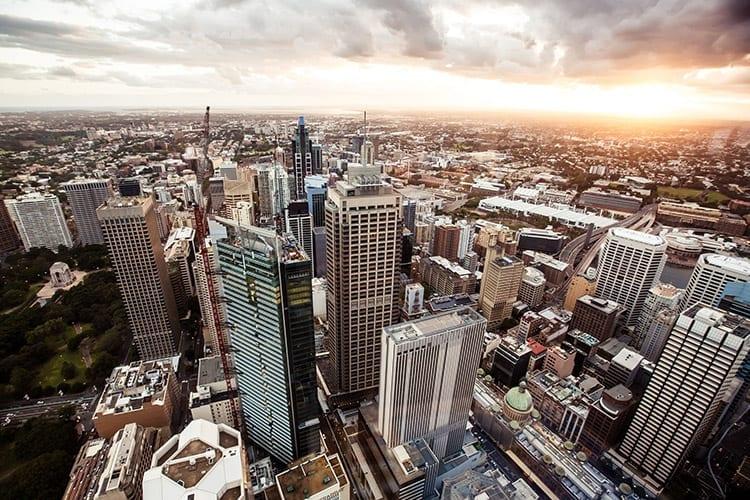 Uitzicht vanaf de Sydney Tower
