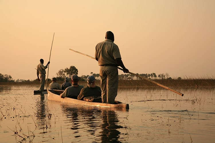 Mokoro safari in de Okavango Delta