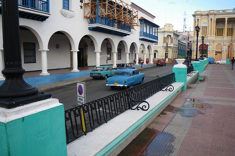 Parque Cespedes plein, Santiago de Cuba