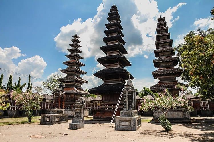 Pura Meru tempel in Mataram