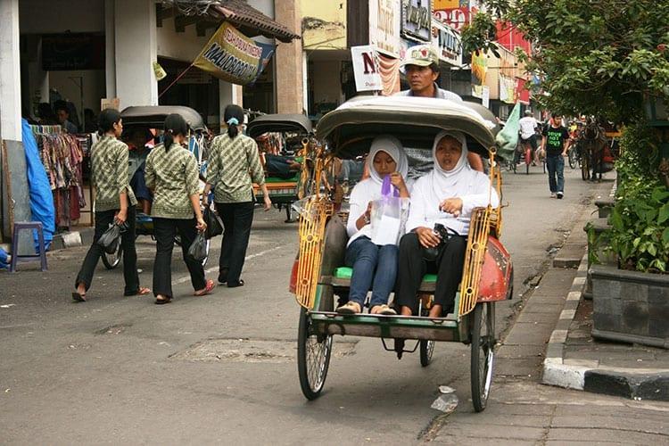 Jalan Malioboro in Yogyakarta