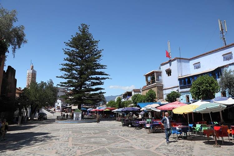 Centrale plein in Chefchaouen