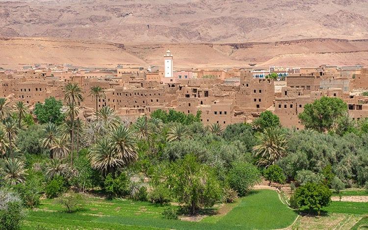 Berber kasbah in de Todra kloof