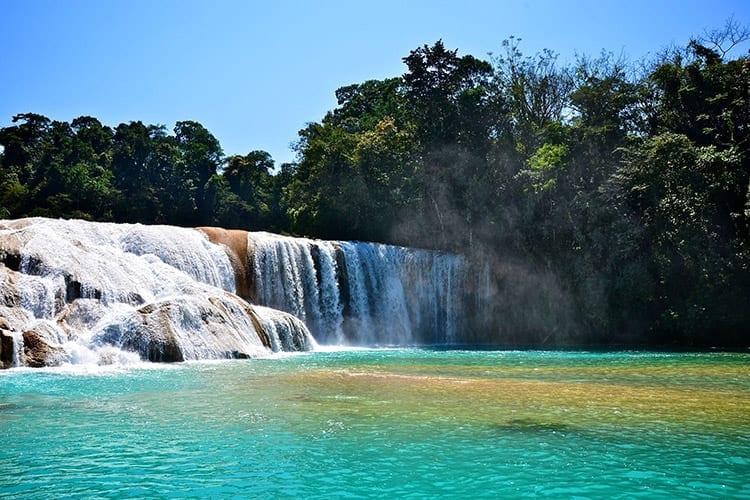 Agua Azul watervallen