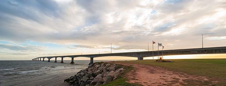 Confederation Brug tussen Prince Edward Island met vasteland New Brunswick
