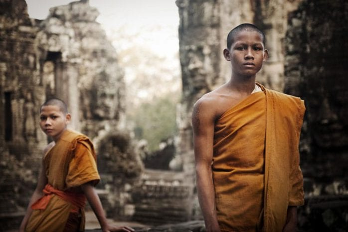 Jonge monniken in de Bayon tempel