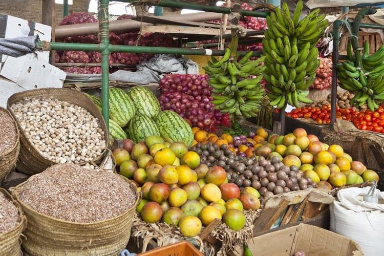 Markt in de 'Old Town' van Mombasa