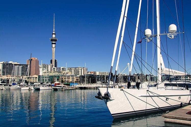 De haven van Auckland