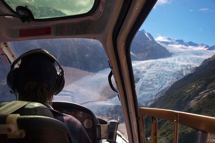 Helikopter vlucht boven de Franz Josef Glacier