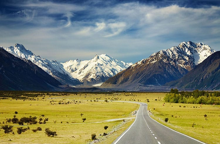State Highway 80 richting Mount Cook