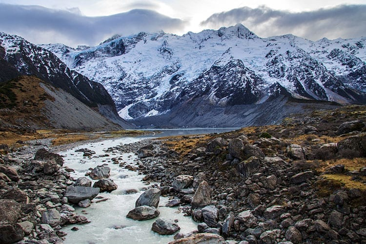 Mueller gletsjer, Mount Cook