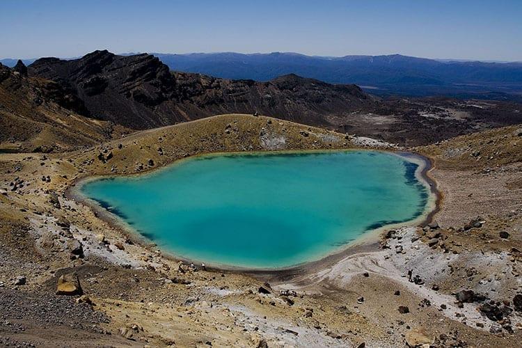 Blue Lake op Mount Tongariro