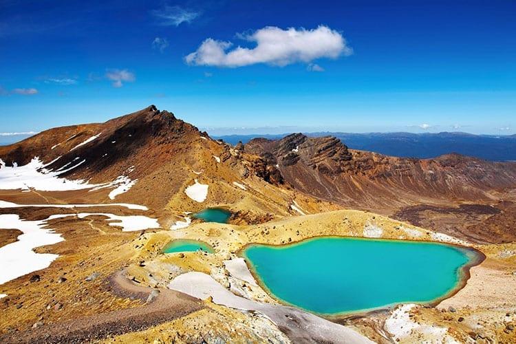 Emerald Lakes op Mount Tongariro
