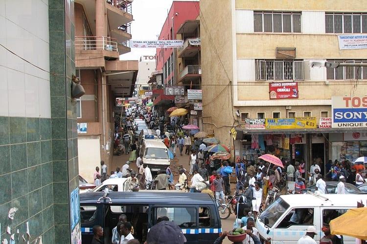 Het oude gedeelte van Kampala