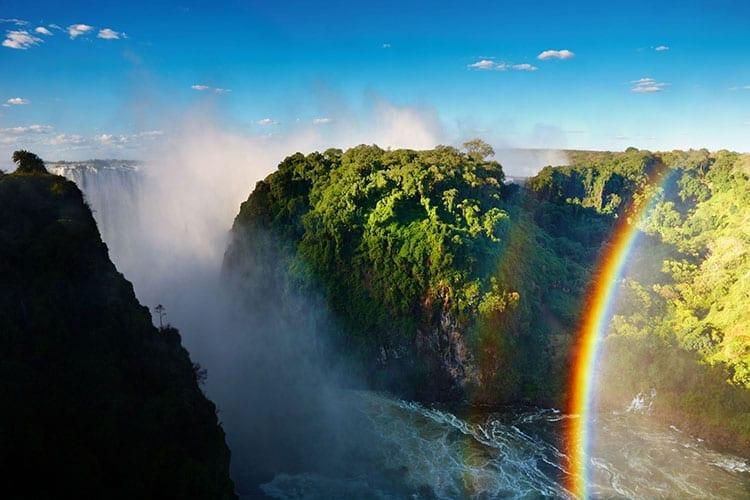 Victoria Falls en de Zambezi rivier