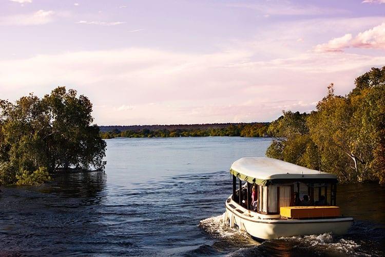 Houseboat op de Zambezi rivier