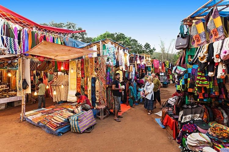 Vlooienmarkt van Anjuna