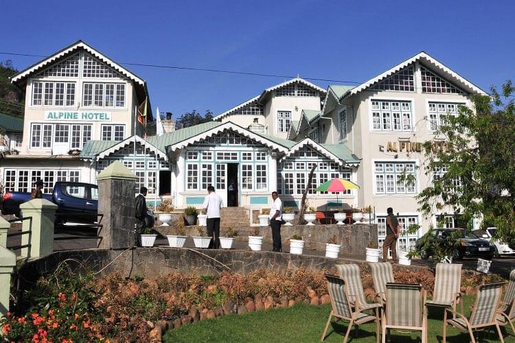 Koloniale Britse huizen in Nuwara Eliya