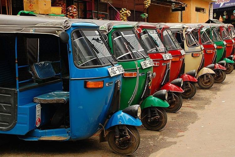 Tuk-tuks in Colombo