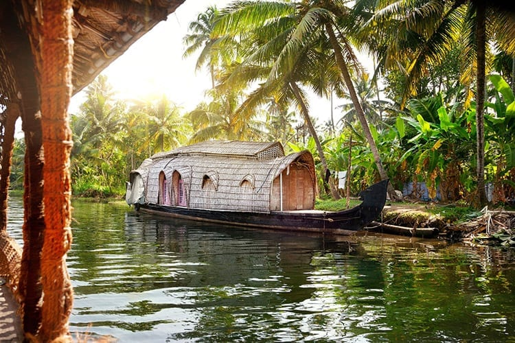 De backwaters van Kerala