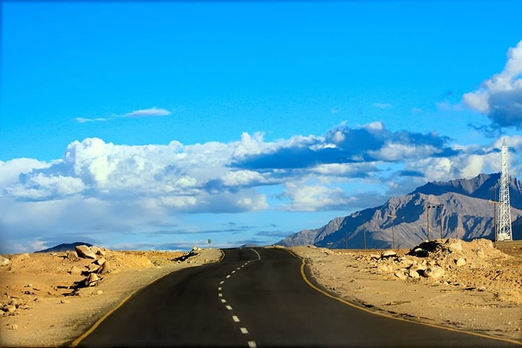 Weg nabij Leh