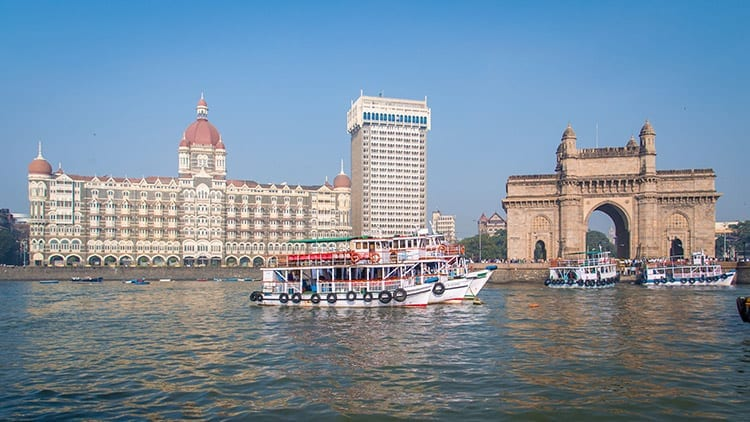 Gateway of India en het Taj Mahal Palace