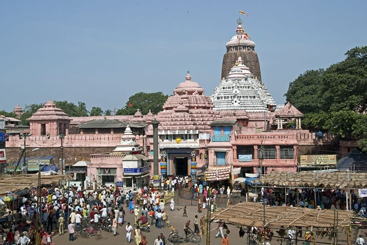 De heilige Jagannath tempel in Puri