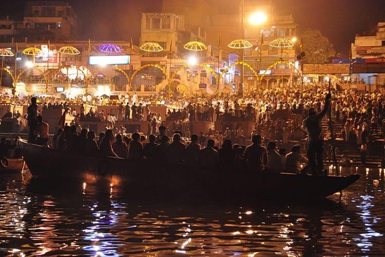Avondceremonie in Varanasi