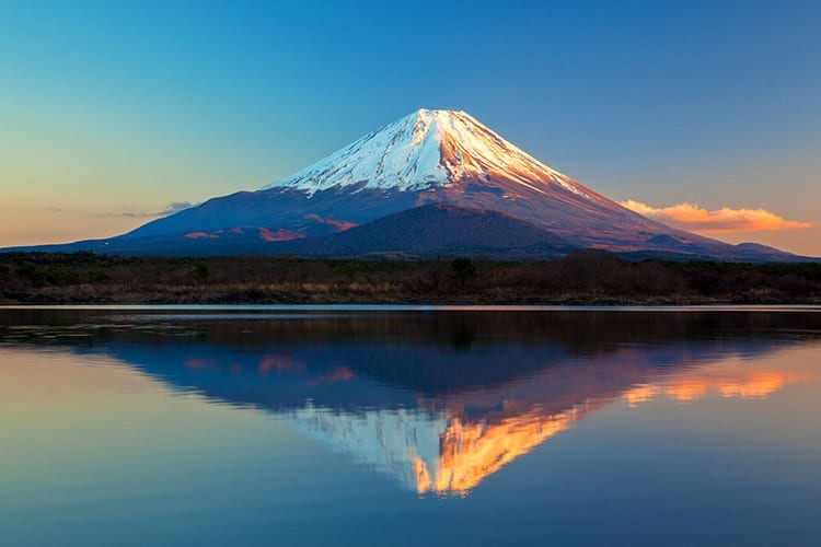 Mount Fuji en Lake Shoji