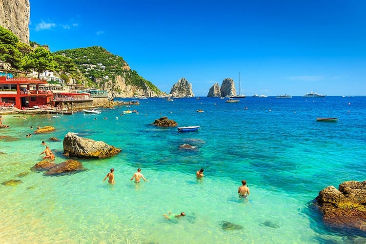 Faraglioni kliffen, Capri
