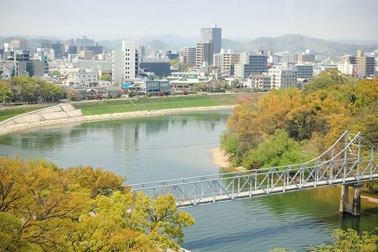Okayama kasteel uitzicht