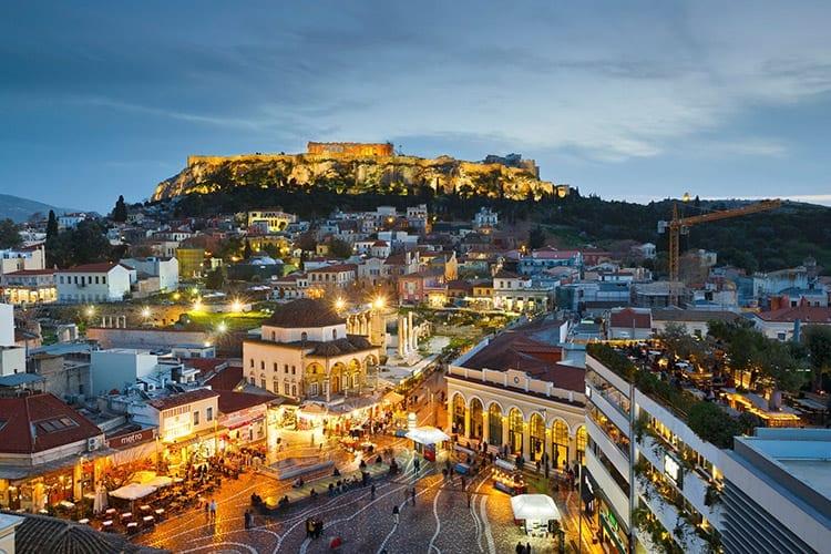 Monastiraki plein, Athene