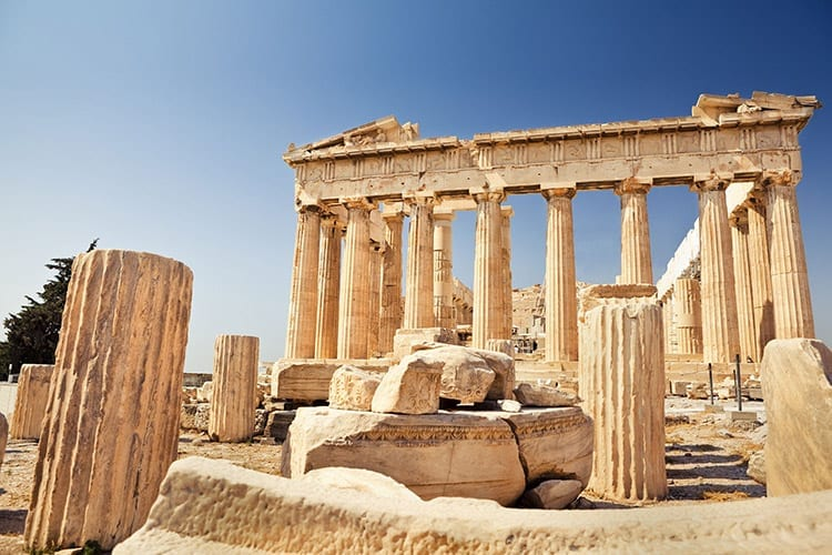 Parthenon in Akropolis