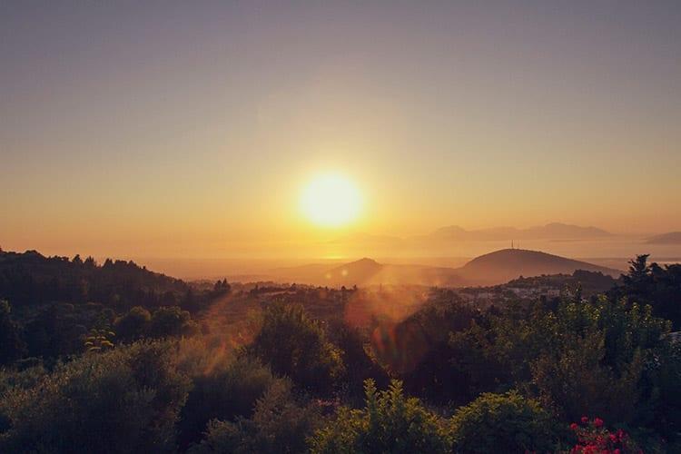 Zia zonsondergang