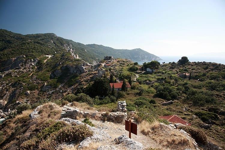 De ruïnes van Kastro, Skiathos