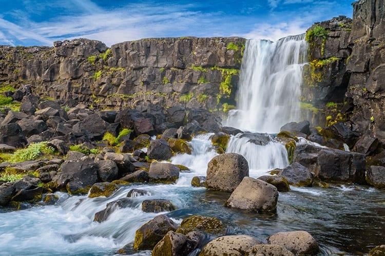 Öxarár waterval in Þingvellir