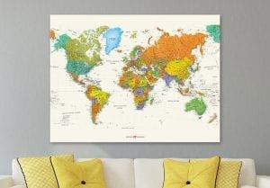 Wereldkaart normaal
