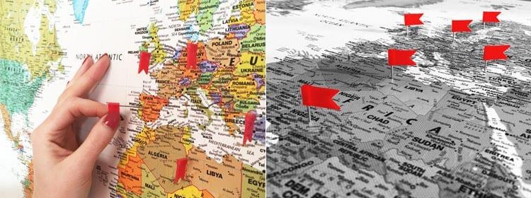 Wereldkaart klassiek canvas 27 vakantiedagen wereldkaart klassiek prikvlaggetjes prikvlaggetjes thecheapjerseys Images